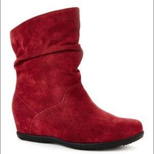 "Cougar ""Fifi"" Red Suede Waterproof Short Boot 7"
